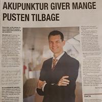 Artikel om Boel Akupunktur i Jyllands Posten