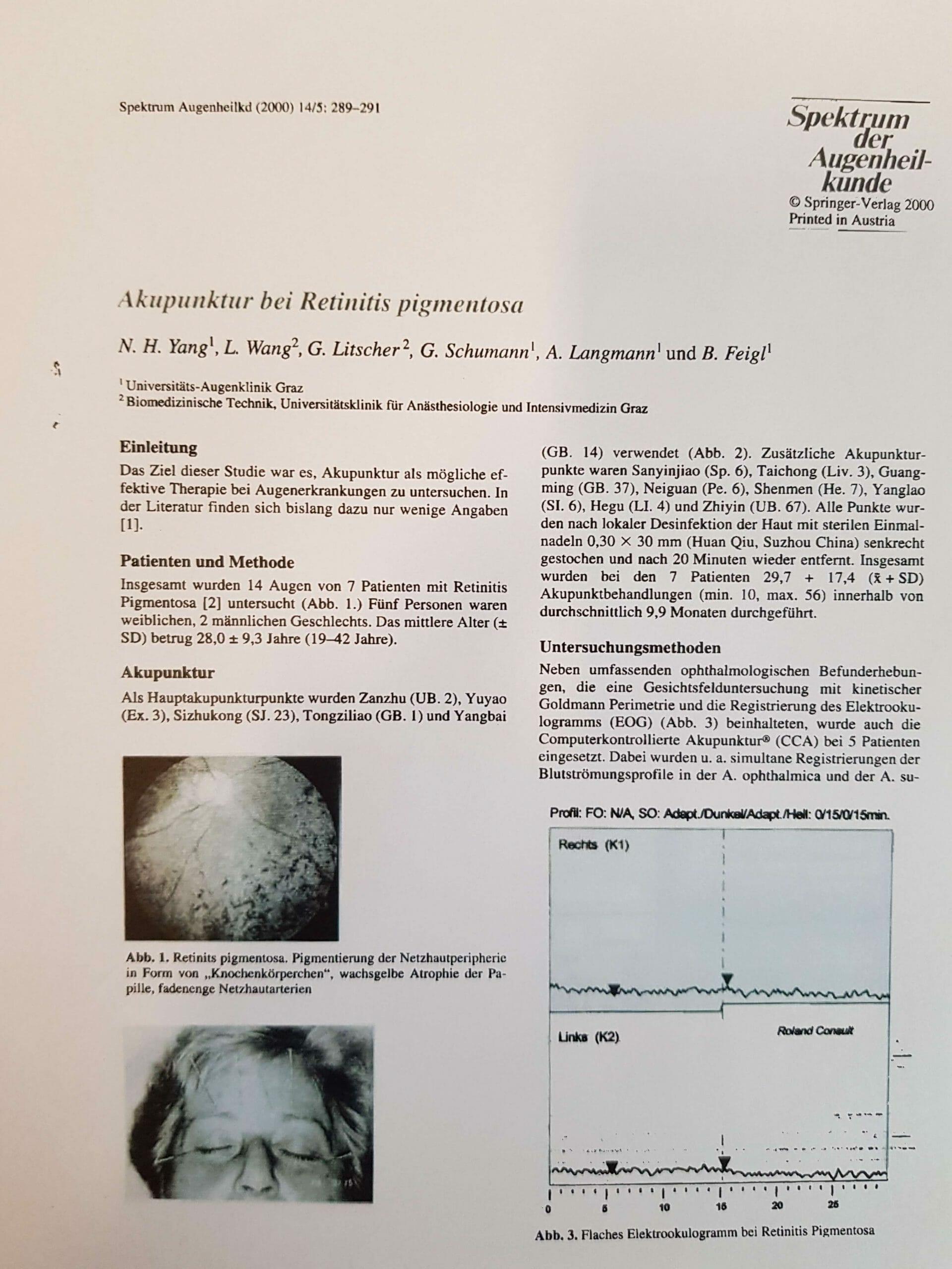 Prof Litscher RP Behandlung mit Akupunktur