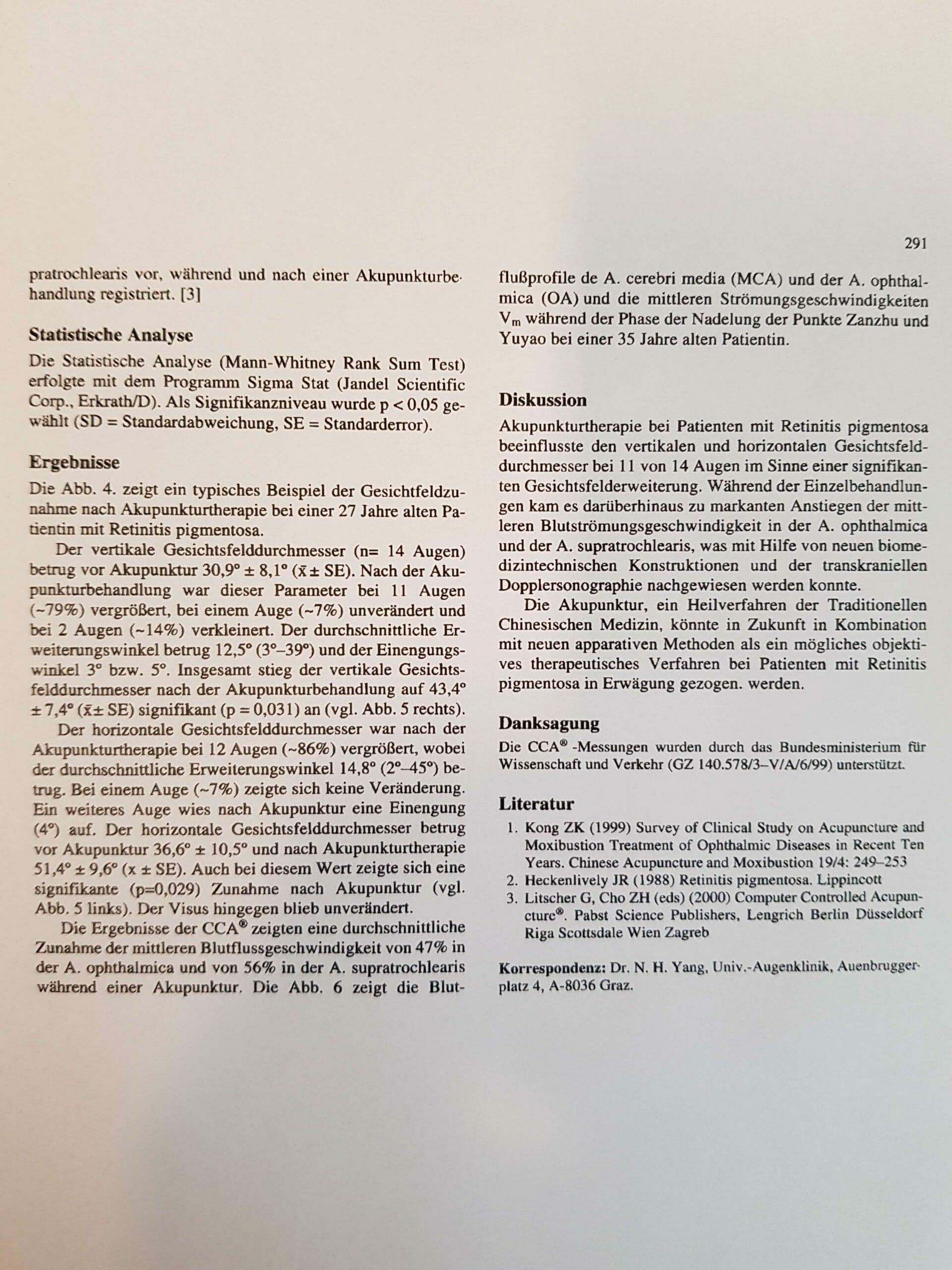 Prof . Litscher RP Behandlung mit Akupunktur